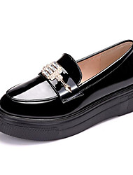 cheap -Women's Loafer & Slip-On Novelty Spring Summer Fall Winter Leather Office & Career Party & Evening Dress Rivet Sparkling Glitter Creepers