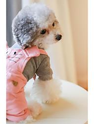 baratos -Cachorro Macacão Roupas para Cães Formais Laranja Rosa claro Algodão Ocasiões Especiais Para animais de estimação Homens Mulheres Casual