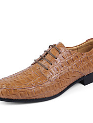 Men's Shoes Real Leather Nappa Leather Cowhide Spring Fall Comfort Formal Shoes Driving Shoes Oxfords Lace-up For Wedding Casual Office &