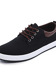 Men's Sneakers Driving Shoes Spring Summer Fall Winter Canvas Walking Shoes Casual Outdoor Office & Career Split Joint Flat Heel Black