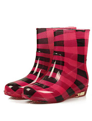 Women's Shoes PVC Winter Rain Boots Boots For Casual Black Red Leopard