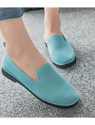 Women's Shoes Flocking Nubuck leather PU Spring Comfort Loafers & Slip-Ons For Casual Gray Purple Light Blue