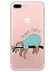 baratos -Caso para maçã iphone 7 7 mais capa de capa padrão de preguiça pintado de alta penetração material tpu caso de telefone suave caso para