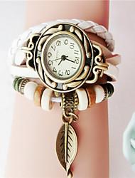 cheap -Women's Bracelet Watch Hot Sale PU Band Charm / Fashion Black / White / Blue