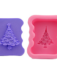 2 Pieces Cake Molds Christmas Cooking Utensils Bread Chocolate Cake Silica Gel Baking Tool DIY Christmas High Quality Christmas Tree