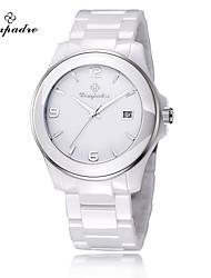 cheap -Men's Women's Wrist watch Fashion Watch Quartz Ceramic Band Casual Elegant White