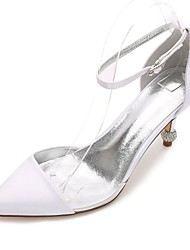 cheap -Women's Shoes Satin Spring / Summer Transparent Shoes / Basic Pump / D'Orsay & Two-Piece Wedding Shoes Cone Heel / Low Heel / Stiletto