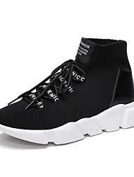 cheap -Men's Athletic Shoe Comfort Light Sole Fall Winter Breathable Mesh PU Spandex Fabric Cycling Shoe Athletic Outdoor Lace-up Flat Heel