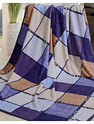 Недорогие -Супер мягкий Клетки Полиэфир одеяла
