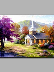 Fairy Tale Cottage 100% Hand Painted Contemporary Oil Paintings Modern Artwork Wall Art for Room Decoration