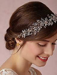preiswerte -Nachahmung Perlenlegierung Stirnbänder Kopf Kette Kopfstück eleganten Stil