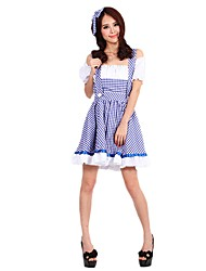 cheap -Oktoberfest/Beer Cosplay Cosplay Costume Outfits Women's Adults' Oktoberfest Festival / Holiday Halloween Costumes Purple Vintage