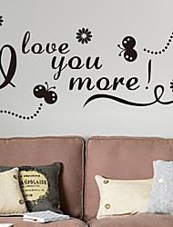 Mots& Citations Romance Mode Stickers muraux Autocollants avion Autocollants muraux décoratifs Matériel Décoration d'intérieur Calque