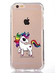 billige -Taske til iphone 7 6 tpu tegneserie enhjørning blød ultra-tynd bagcover case cover iphone 7 plus 6 6s plus se 5s 5 5c 4s 4