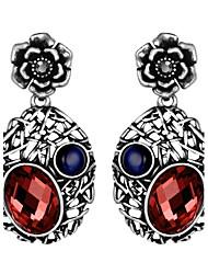 abordables -Mujer Pendientes colgantes Zirconia Cúbica Obsidiana Personalizado Lujo Clásico Vintage Bohemio Básico Hecho a Mano Estilo lindo