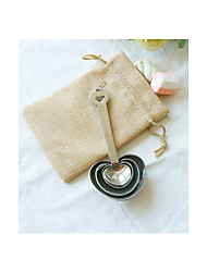 Heart Design Measuring Spoon in Burlap GiftBag Wedding Favor Beter Gifts® Life Style