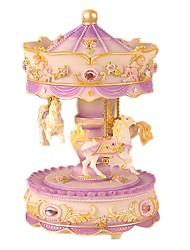 economico -Scatola musicale Giocattoli Cavallo Carosello Plastica Adorabile 1 Pezzi Per bambini Donna San Valentino Compleanno Regalo
