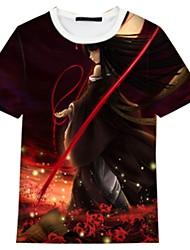 Inspiriert von Hell Girl Cosplay Anime Cosplay Kostüme Cosplay-T-Shirt Karton Kurzarm Top Für Unisex