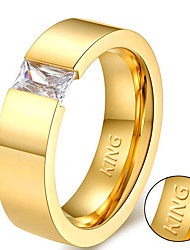 cheap -The new Korean couple ring ring ring stylish titanium zircon 18 carat gold YB136