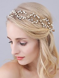 Basketwork Imitation Pearl Alloy Headpiece-Wedding Special Occasion Party/ Evening Headbands Hair Tool 1