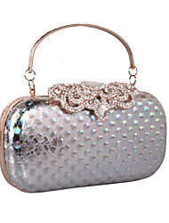 cheap -Women Bags leatherette Clutch Rhinestone MiniSpot for Wedding Event/Party Formal All Seasons Gold Black Silver