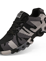 Men's Athletic Shoes Comfort Fall Winter Fabric Customized Materials Tulle Basketball Shoes Athletic Lace-up Low Heel Black/Red Black