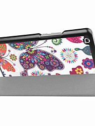 Painting Pattern Three fold PU Leather Case with Stand for Huawei MediaPad M3 8.4 inch Tablet PC