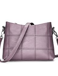 Недорогие -Жен. Мешки PU Сумочка через плечо для Повседневные Красный / Розовый / Серый