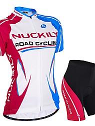 economico -Nuckily Maglia con pantaloncini da ciclismo Per donna Manica corta Bicicletta Set di vestiti Asciugatura rapida Resistente ai raggi UV