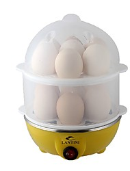 Lantini Lan-ZEgg Cooker Double EggboilersMultifunction Light and Convenient Creative Mini Style Low Noise Power light indicator Lightweight Detachable