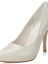 economico -Da donna Tacchi Scarpe formali Primavera Estate Vernice Formale Serata e festa A stiletto Bianco Rosso Tessuto almond 10 - 12 cm
