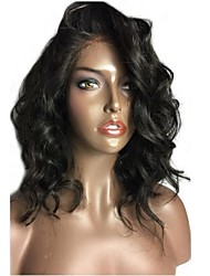 150% High Density Wavy Short Bob Wig Virgin Brazilian Human Hair Glueless 13x6 Deep Parting Lace Front Wig Natural Wave Bob Lace Front Wig