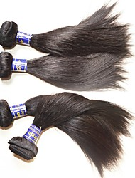 abordables -El pelo recto de seda peruano de calidad superior al por mayor empaqueta la porción 6pcs 600g para la cabeza dos instaló el color natural