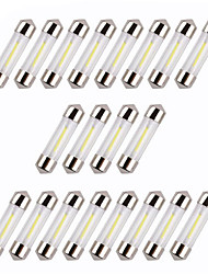20pcs 36MM COB White/Warm/Blue Chips C5W Car Interior Glass Lens Festoon Dome Reading LED DC12V