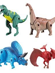 Недорогие -Фигурки животных Наборы для моделирования Игрушки Динозавр Животный принт Экологичные трансформируемый Своими руками ABS Дети 1 Куски