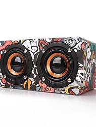 M5 Mini Style Bluetooth Bluetooth 4.0 3.5mm AUX Bookshelf Speaker Black Camouflage Color