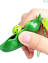 cheap -Anti Pressure Stress Creative Extrusion Pea Bean Soybean Edamame Stress Relieve Toy Keychain Cute Children Adult Toys Gift