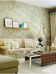 Floral Wallpaper For Home European Wall Covering , Non-woven fabric Material Adhesive required Wallpaper , Room Wallcovering