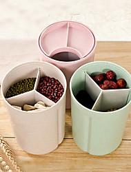 1pc réservoir de stockage grille grain scellé pot avec couvercle humide conteneur couleur aléatoire