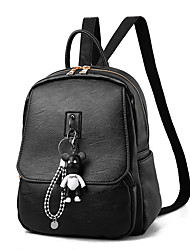 cheap -Women's Bags PU Backpack Zipper for Office & Career Black