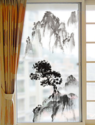 cheap -Window Film Window Decals Style Bamboo Grind Arenaceous PVC Window Film- (60 x 116)cm