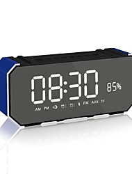 abordables -DG100 Mini Estilo Bluetooth Visualización de Tiempo Bluetooth 4.0 3.5mm AUX USB Altavoz de Estantería Dorado Negro Rosa Perla Azul Claro