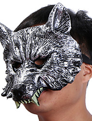 Halloween, caoutchouc, animal, loup garou, loup, tête, masque, tête, halloween, mascarade, cosplay, masque, costume, costume