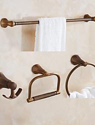 Towel Bar Towel Ring Toilet Paper Holder Robe Hook Towel Warmer / Antique Brass Classical