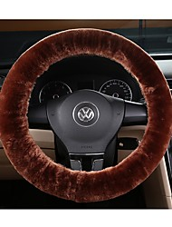 cheap -Faux Wool Steering Wheel Cover Car Wheel Protector up to 38cm