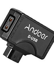 andoer d-tap auf 5v usb adapter steckverbinder für v-mount camcorder kamera batterie für bmcc smartphone monitor