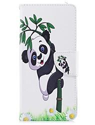 baratos -Capinha Para Samsung Galaxy NNote 8 Porta-Cartão Carteira Com Suporte Flip Magnética Estampada Capa Proteção Completa Panda Rígida PU