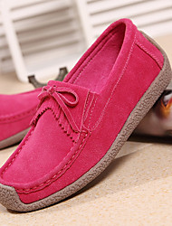 Women's Shoes Suede Spring Fall Light Soles Loafers & Slip-Ons Round Toe Tassel For Casual Royal Blue Blushing Pink Fuchsia Yellow Dark