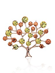 cheap -Women's Scarf buckle Brooches Fashion Bling Bling Rhinestone Alloy Tree of Life Jewelry For Stage Going out