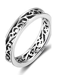 preiswerte -Damen Bandringe Knöchel-Ring Vintage Sterling Silber Blumenform Schmuck Für Party Alltag